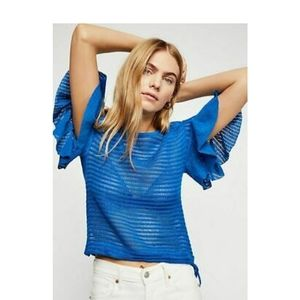 Free People Knit Top With Bell Sleeves